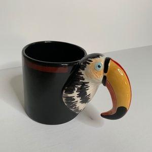 Other - Toucan Bird Black with Beak Handle Coffee Mug
